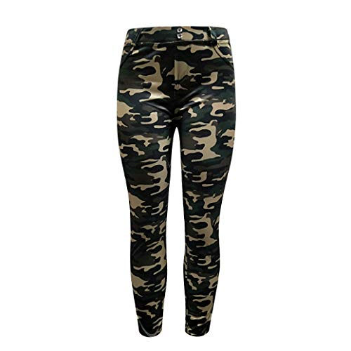 (Ladies Military Yoga Pants,Running Fitness Training Tight Elastic Printed Pants (XL, Camouflage))