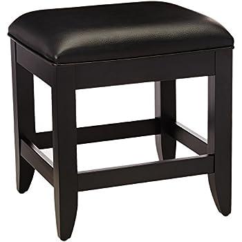 Home Styles 5531-28 Bedford Vanity Bench, Black Finish