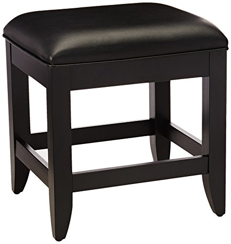 Home Styles  Bedford Vanity Bench, Black Finish from Home Styles