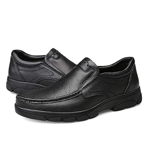 Oxford Fashion Slip Eu Para Mxnet Hombres Formales Round Top Low Tamaño Negro 42 Simple color Zapatos Casual Toe On Marrón q57wUwdYr
