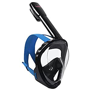 Full Face Snorkel - Snorkeling Mask Set New 2017 Design GUARNTEE & FREE DELIVERY See 180 Degrees Underwater with New 4 Valve Anti Fog Technology Breathe Easy While Snorkling with the Best