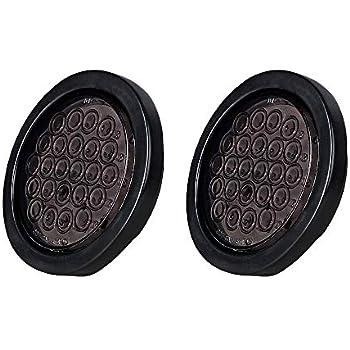 Amazon Com 2pcs 4 Quot Round Red Smoke Lens 24 Led Brake Stop