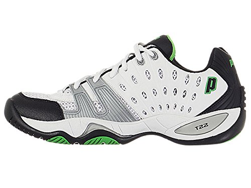 Prince Men's 8P984149-T22 Tennis Shoe,White/Black/Green,9.5 M US