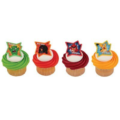 Angry Birds Why So Angry? Cupcake Rings - 24 pc (Party Favors Angry Birds)