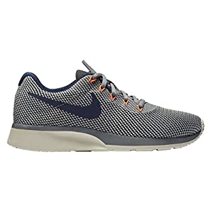 WOMENS NIKE TANJUN RACER SNEAKER (9 B(M) US, Cool Grey/Binary Blue)