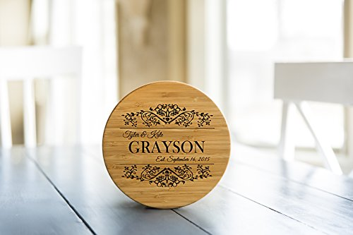 Personalized by Name Trivet Dish Coasters Wood - Large 7in Hot Pads for Pans (Grayson Design, 1 (Personalized Name Coaster)