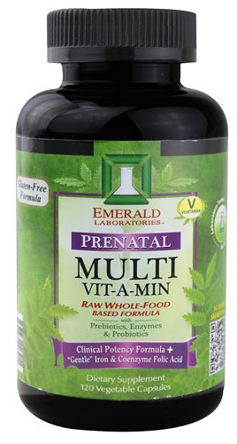 Emerald Labs Prenatal Multi Vit A Min Raw Whole-Food Based Formula -- 120 Vegetable Capsules - 2PC