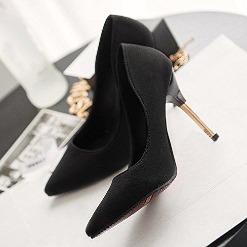 Decolte Tacchi Tacco Donna Heels Modaworld Black High Col ❤️scarpe Scarpe A Alto Sexy 10cm Spillo qgxnw8F1f