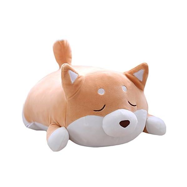 "Shiba Inu Dog Plush Pillow, Cute Corgi Akita Stuffed Animals Doll Toy Gifts for Valentine's Gift, Christmas,Sofa Chair, Brown Blink 15"" 1"