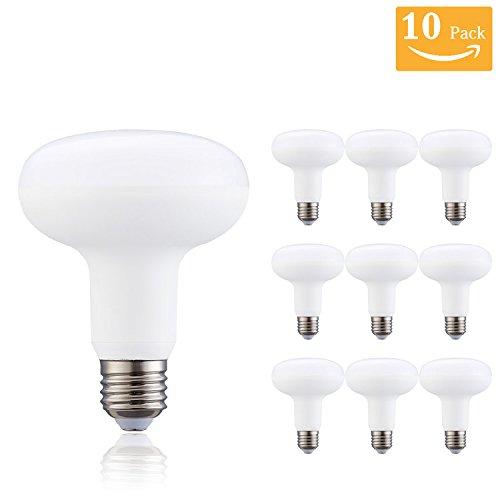 10 Pack-12 Watt R30/BR30 LEDLight Bulb(100 Watt Equivalent),R30 - E26 Wide Flood Light Bulb,Medium Screw Base,1320 Lumens 120 Beam Angle,86-256 Volt Indoor/Outdoor, Dimmable, 5000K Daylight - 14 Watt R30 Floodlight