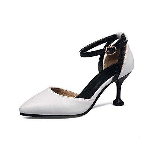 Blanc BalaMasa Femme 5 EU 36 Sandales Blanc Compensées qnABnxTPwf