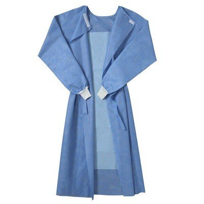 Blue Surgical Gown, Reinforced, Disposable, Sterile, 2 Pack,Medium/Large (Each Pack: 1 Gown, 2 Hand Towel, 1 Wrap) by PRG Medical