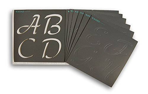 (Waverly Inspirations Laser Cut Alpha Basic Script Alphabet Stencils - 6