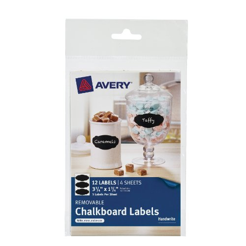 Avery Removable Chalkboard Labels 73304