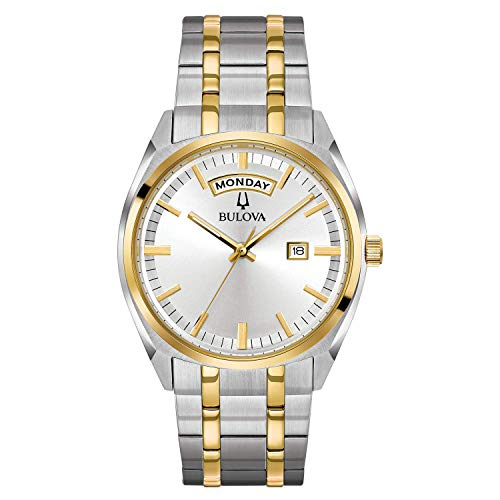 Bulova Mens 98C127XG Quartz Yellow Gold and Silver-Tone Bracelet 39mm Watch(Renewed)