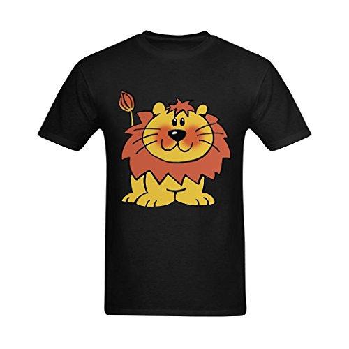 (Jollrauk Men's Cartoon Lion Free Clipart T-Shirt US Size)