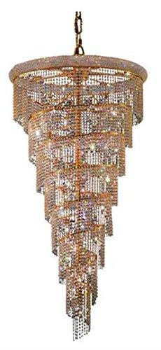 Adrienne Gold Modern 26-Light Grand Chandelier Heirloom Handcut Crystal in Crystal (Clear)-1531SR36G-RC--36