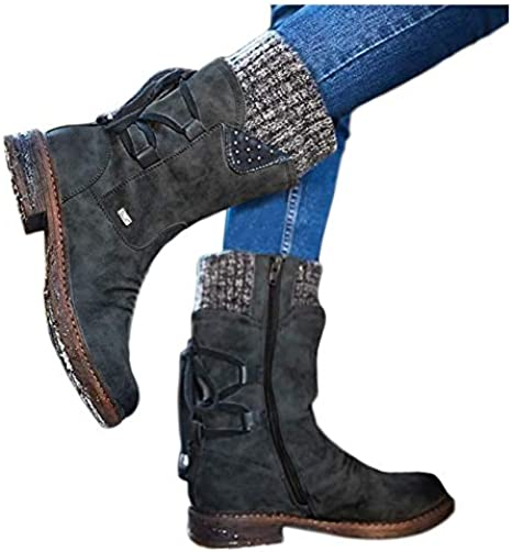 Vintage Winter Casual Boots Womens Snow
