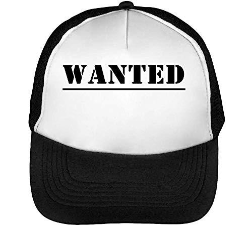 Hombre Blanco Negro Beisbol Wanted Gorras Snapback qn1xwOvR5