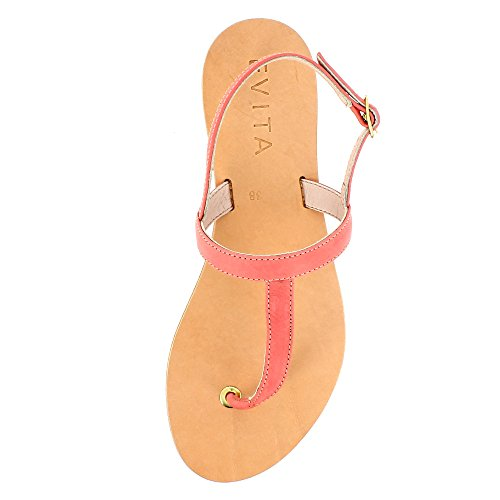 Evita Shoes Greta - Sandalias de vestir de Piel para mujer Coral