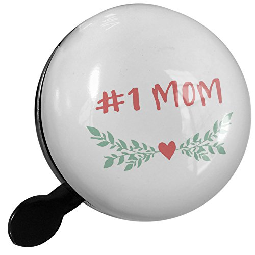 Small Bike Bell #1 Mom Mother's Day Heart with Leaves - NEONBLOND