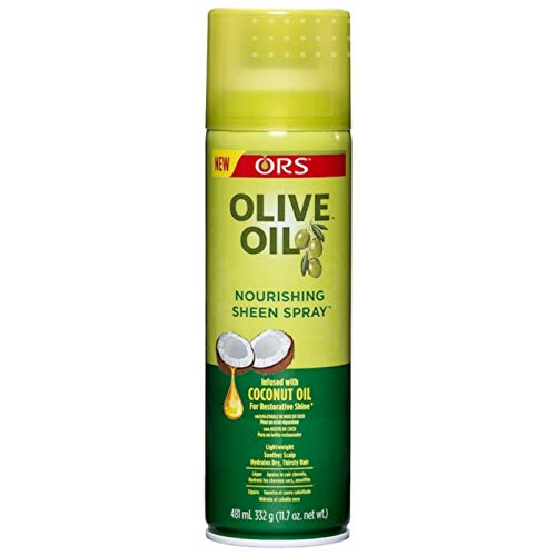 ORS Olive Oil Nourishing Sheen Spray infused with Coconut Oil 11.7 oz (Pack of ()