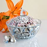 Beautiful Glass Candy Dish w/ Cover