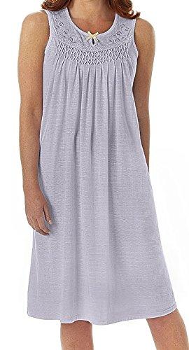 EZI Womens Cotton Sleeveless Nightgown product image