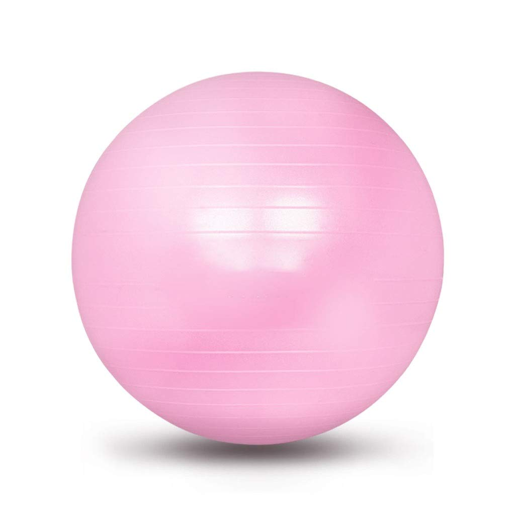 Exercise Yoga Ball, Gym Ball with Quick Pump Anti-Slip Exercise Ball Heavy Duty Gym Ball for Physical Therapy Gym and Home Exercise (Color : Pink, Size : 55cm)