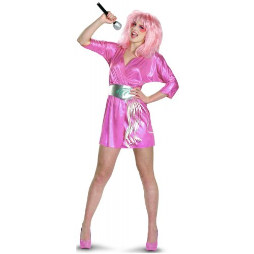 [Disguise Jem and The Holograms Deluxe Womens Costume, Pink/Silver, Small/4-6] (Jem And The Holograms Fancy Dress Costume)