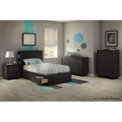 - Gray Oak Twin Mates Bed 39