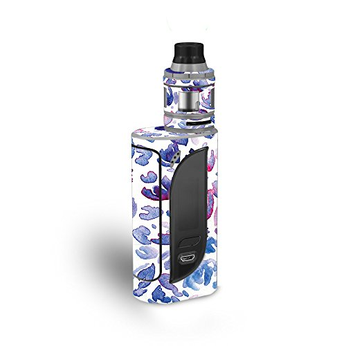 MightySkins Skin Compatible with Eleaf iKonn 220 - Blue Petals   Protective, Durable, and Unique Vinyl Decal wrap Cover   Easy to Apply, Remove, and Change Styles   Made in The USA ()