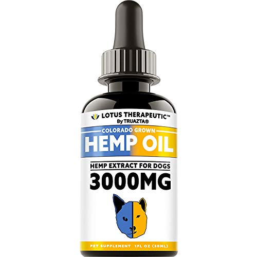 TRUAZTA Hemp Oil for Dogs & Cats Pain Relief & Dog Anxiety Relief - Natural Hemp Oil for Pets - Stress Relief Essential Oil and Anxiety Relief Supplements - 3000 mg