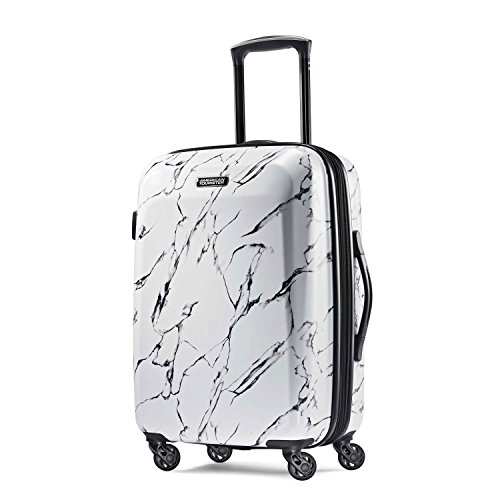 Solid Strap Zipper - American Tourister Carry-On, Marble