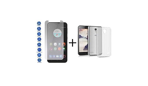 MB Accesorios Pack Protector Cristal Templado Transparente + Funda Transparente ZTE Blade A520: Amazon.es: Electrónica
