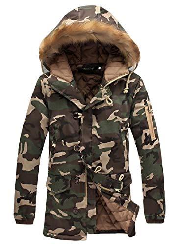 Thicken Plus Relaxed Comfort Camo Cotton Jacket Energy Pea Men's Fit 1 Coat xtnXWwq1w