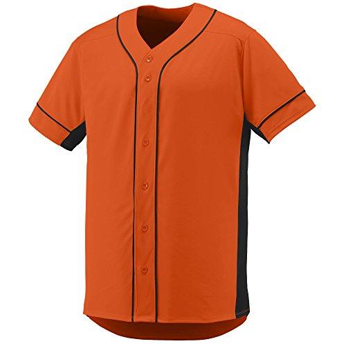 Jersey Softball On At (Augusta Sportswear Men's Slugger Baseball Jersey M Orange/Black)