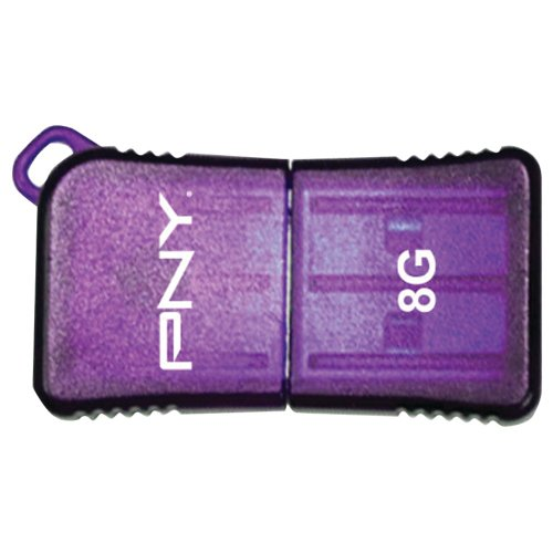 Pny Usb Attache Micro - PNY 8 GB Micro Sleek USB Drive, Purple (P-FDU8GBSLK/PRP-EF)