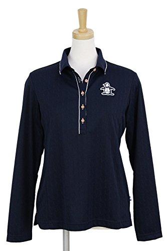 長袖ポロシャツ レディース マンシングウェア Munsingwear 2018 春夏 ゴルフウェア L(L) ネイビー(NV00) mgwljb01
