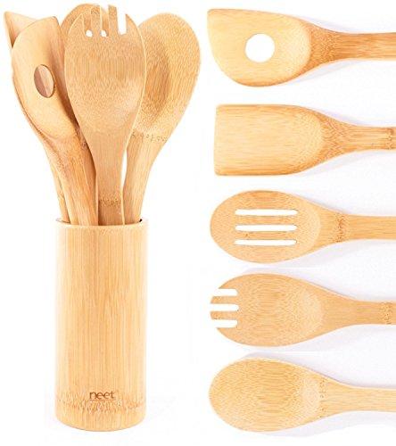 Neet Organic Wooden Bamboo Cooking & Serving Utensils