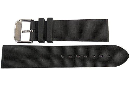 Bonetto Cinturini 22mm Black Rubber Watch Strap Model 315 by Bonetto Cinturini (Image #2)