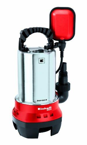 Einhell Schmutzwasserpumpe GH-DP 6315 N (630 W, max. 17000 l/h, max. Förderhöhe 8 m, Fremdkörper bis 15 mm, Edelstahl-Pumpengehäuse)