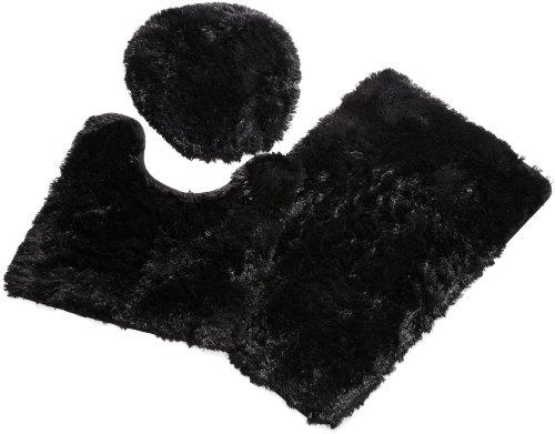 Popular Bath 3 Piece Fluff Black product image