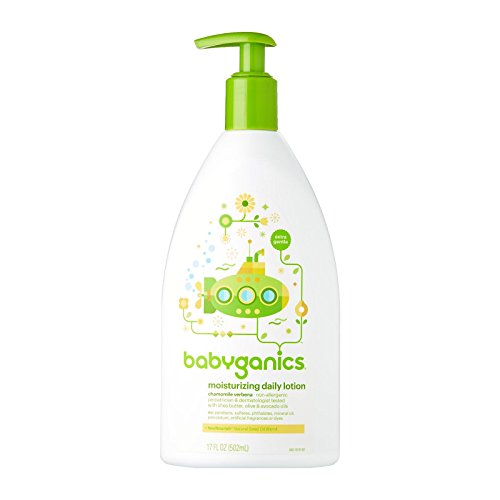 (Babyganics Extra Gentle Moisturizing Daily Lotion, Chamomile Verbena, 17 Fluid Ounce (502 ml))