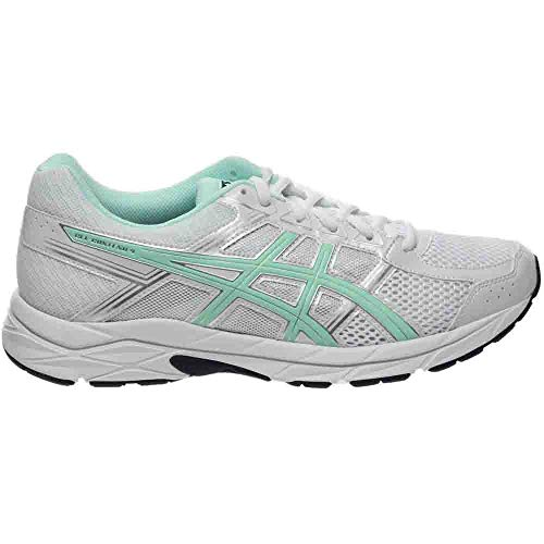 ASICS Women's Gel-Contend 4 Running Shoe, White/Bay/Silver, 5 M US by ASICS (Image #1)