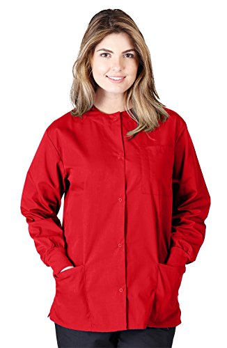 Natural Uniforms Women's Warm Up Jacket (Plus Sizes Available) (Medium, Red)