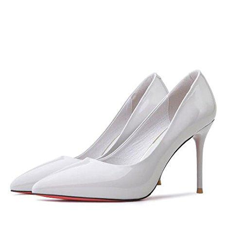 Sexy Mariage Party Haute Cour Mode De 3cm 9 38 Femme EU Nightclub Travail Chaussures 5 Chaussures UK Talons Travail Gray 5 De Noir q7w5FI