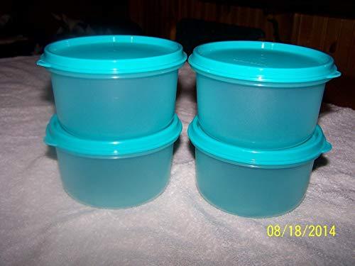 Tupperware Serving Center Bowls Cool Aqua Set of 4