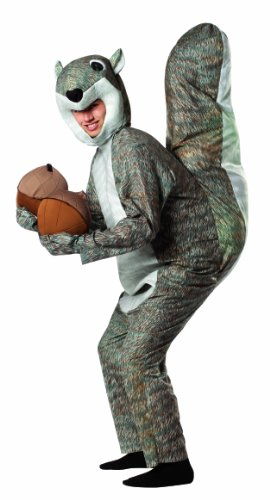 Rasta Imposta Squirrel Costume, Gray, One Size - Funny Halloween Costumes For Men