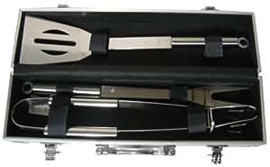 Pradel Excellence - Maletín con cubiertos de barbacoa, (espátula, tenedor y pinzas)